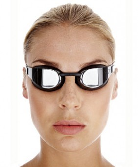 "Speedo® ""Elite Goggle"" Fastskin³ Mirror black/silver"