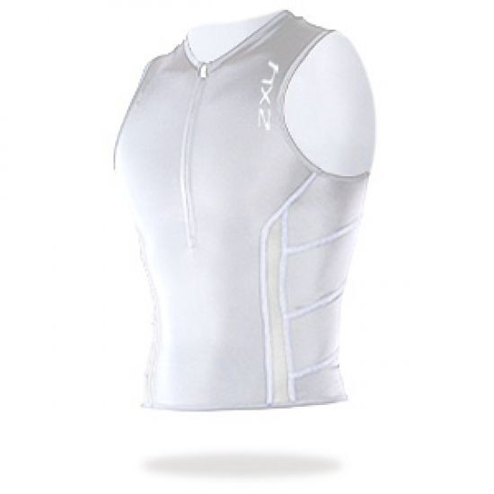 2XU - Men´s Comp Tri Singlet Pocket white